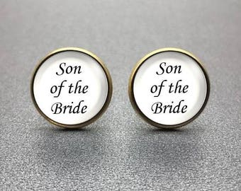 Son of the Bride Cufflinks, personalized cufflinks