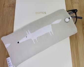 Scion Mr Fox Fabric -Glasses Case- Padded -Handmade