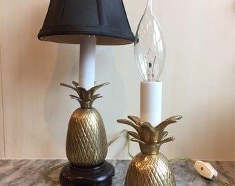 Brass Pineapple Lamps