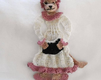 crochet bookmark or decoration pattern, wolf in grandmas clothing pdf, unique bookmark instructions, stocking stuffer diy, readers gift diy,