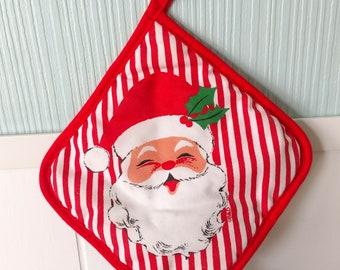 vintage Santa pot holder