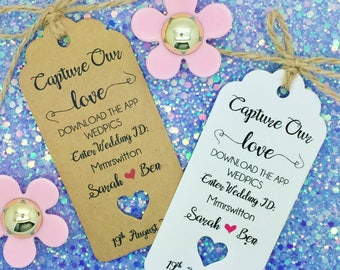 Wedding Wedpics, Selfie Stick Gift Tags, Wedding Favour, Guest Label