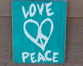 Love Peace sign, home decor, teenagers.