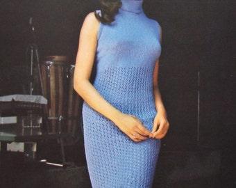 1960's Knitting Patterns, PDF Vintage Pattern Women's Knit Dress Pattern 1122