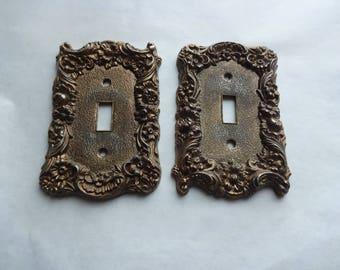 2 Ornate Vintage Switch Plates