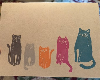 Kitties with monocle note card