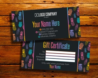 Gift Certificate - Gift Card - Personalized Gift Certificate - Custom Gift Card - Printable - Digital Files - HO Approved Colors Fonts -