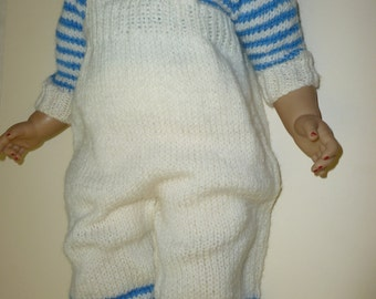 Toddlers knitted dungarees and jumper set