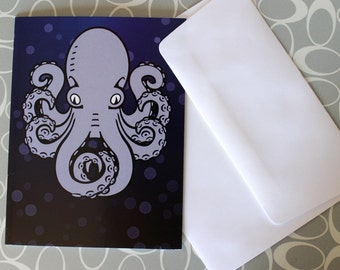 Octopus Greeting Card Blank