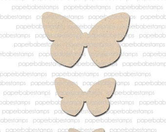 Butterfly Fibreboard Substrates Kit - Paperbabe Stamps - Complementary MDF Shapes for mixed media and craft.