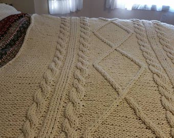 Chunky Knit Cable Throw