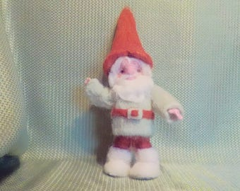 Needle Felted Green Gnome