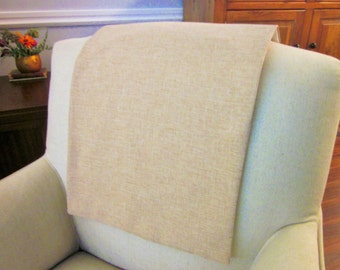 """Headrest Chair Protector or Cover, Burlap or Linen Like, 30"""" x 14"""", Recliner/Chair/Sofa Head Rest Cover, Antimacassar"""