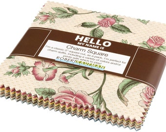 "Belcourt~Cotton Fabric, Quilt, Craft, Charm Pack,42~5"" squares,Kaufman, Fast Shipping, CP403"