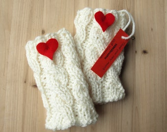 Boot cuffs Ivory Knit Boot Cuffs Leg Warmers Boot Toppers Knit Boot Socks READY TO SHIP