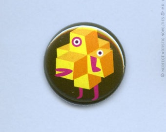 "Bloxo 1"" Pin-Back Button"