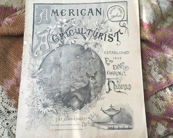 Eye Candy From The 1800s Antique American Agriculturalist Magazine