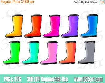 50% OFF Rain Boots clipart, rain boots clip art, rainboots clipart clip art, Spring Showers, boots, scrapbooking, PNG, Commercial