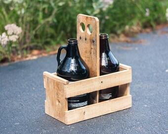 Beer Caddy - Beer Growler Carrier - Beer Growler - 64oz Growler Holder - Home Brewing - Beer Gift For Men - Gift For Him - Craft Beer Gift