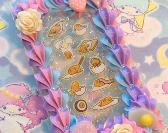 iPhone 7 Plus & 8 Plus Decoden Phone Case Whip Border Kawaii Sweet READY TO SHIP
