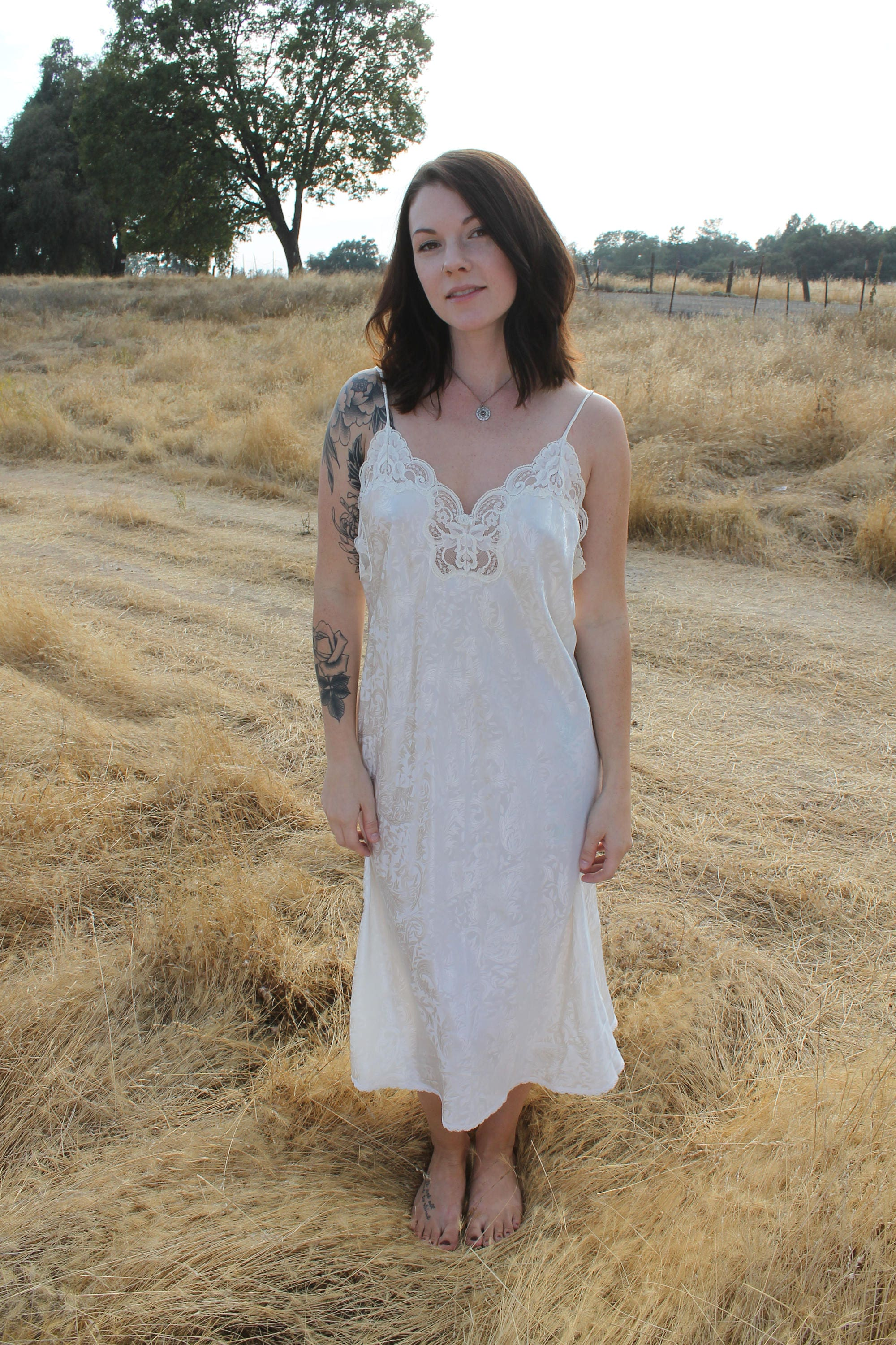 RESERVED for Laurencedm Frost Vintage 90s Slip Dress Night Gown ...
