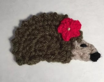 Crochet hedgehog appliqué Embellishment