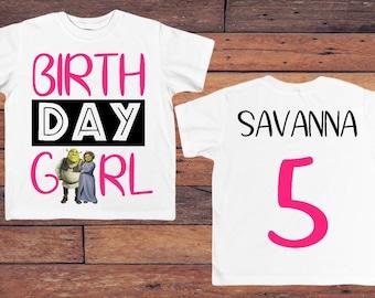 Shrek birthday shirt