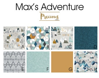 Max's Adventure Collection - Max's Map - Baby Boy Crib bedding - Woodland Crib bedding - Adventure Bedding