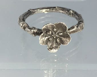 Forget me not twig ring size 6-1/2