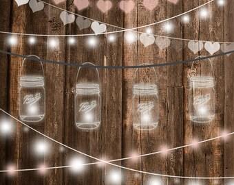 Watercolor Mason Jar Clipart Wedding For Invitations