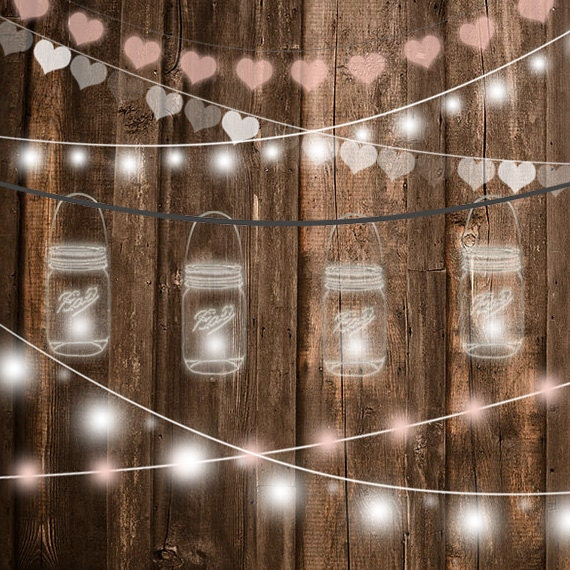 String Lights Clipart Wedding Invitation Party
