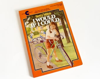 I Would If I Could by Betty Miles Avon Camelot Paperback 1983 VGC, Vintage 1980s Childrens Chapter Book