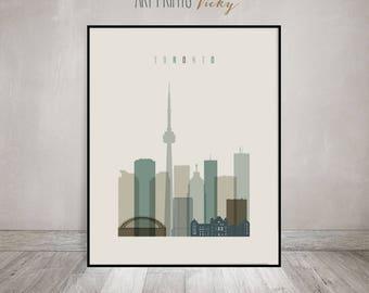 Toronto art, print, Poster, Toronto skyline, Travel wall art, Canada cityscape, wall decor, City print, travel, Home Decor, ArtPrintsVicky