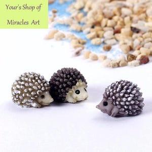 Charmant 5pcs Hedgehog Penguin Rabbit Fairy Garden Miniatures Micro Landscape Bonsai  Garden Decor DIY Craft Ornament Home