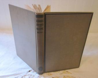 1926 Hebbels Herodes und Mariamne: Fine Tragodie in Funf Uften, Intro by Edward Stockton Meyer, PH.D. vintage book, German & English, Taupe