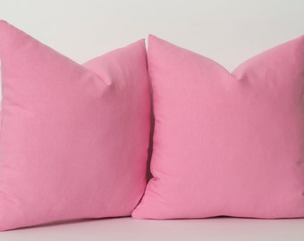 Solid Pink Pillow Cover ALL SIZES Pink Shams Pink Lumbar Pink Bolster Decorative Pillows For Couch Linen Pillow Cover Accent Pillow