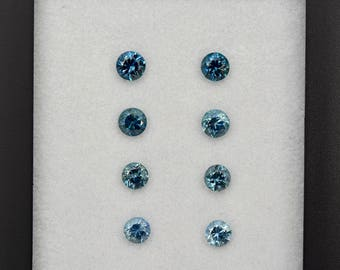Elegant Steely Blue Sapphire Gemstone Earring Set from Montana 3.01 tcw.