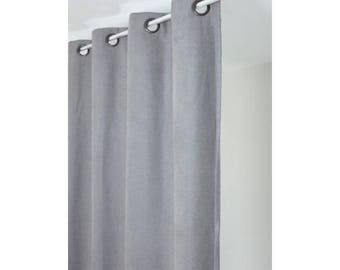Curtain insulating thermal 140 x 260 ready to install light gray