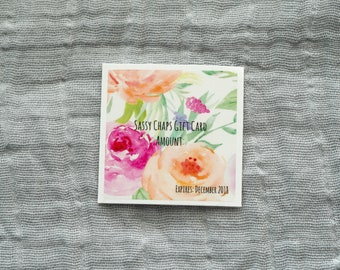 Gift Card for homemade organic lip balm
