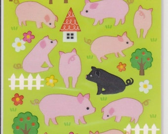 Pig Stickers - Removable Stickers - Mind Wave Stickers - Reference F835-36F1271F1485F1716F2926-27