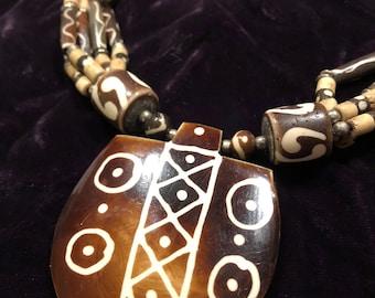 vintage tribal-style Nepalese multi-strand necklace