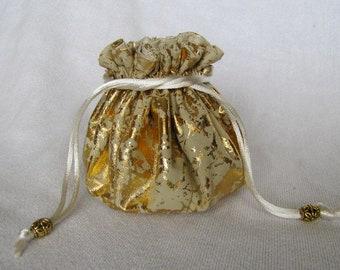 Fabric Jewelry Bag - Medium Size - Drawstring Jewelry Pouch - Travel Tote - ICED GALA