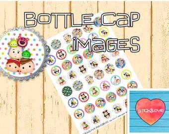 "Tsum Tsum printables 1"" circles, bottle cap images, stickers"