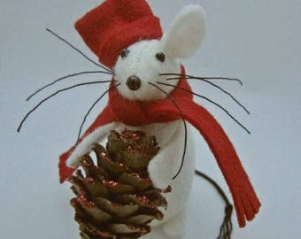 Christmas Mouse - Christmas Bauble Mouse - Felt Mouse - Felt Mice - Mouse Christmas Decoration