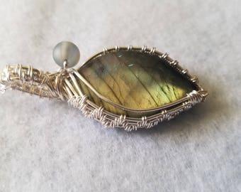 Labradorite and Opalite  Necklace