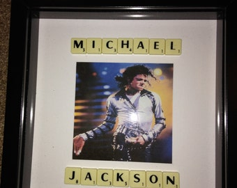 Michael Jackson print framed with lyrics picture frame wall art gift