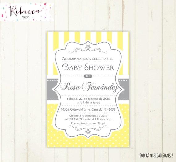 Baby Shower Invitation Spanish Boy Or Girl Baby Shower Spanish