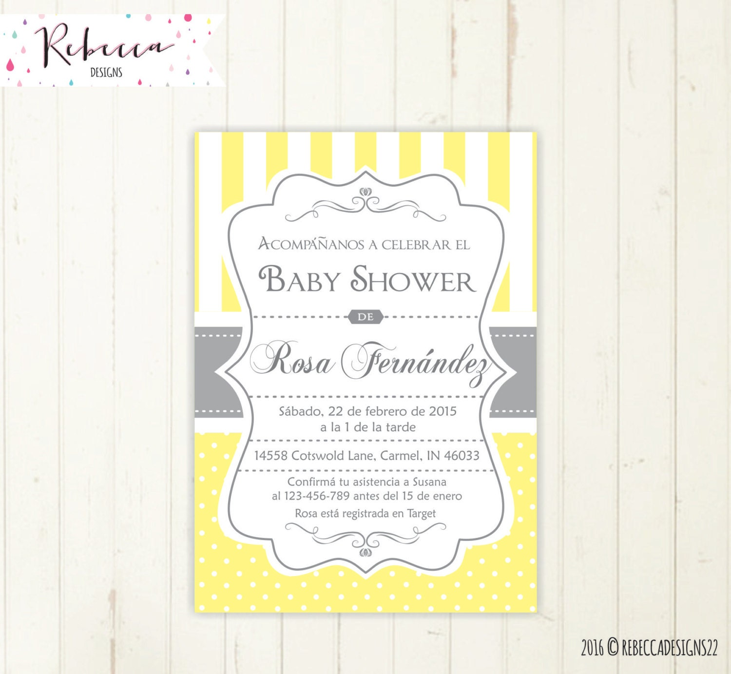 baby shower invitation spanish boy or girl baby shower spanish
