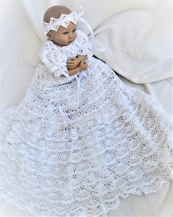 Baby Crochet Christening Gown Pattern Christeing Dress Simple Crochet Christening Gown Pattern