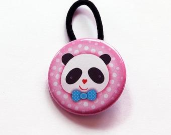 Panda Ponytail Holder, Hair Elastic, Pony tail holder, Girls ponytail holder, Panda elastic, stocking stuffer, gift for child (6108)